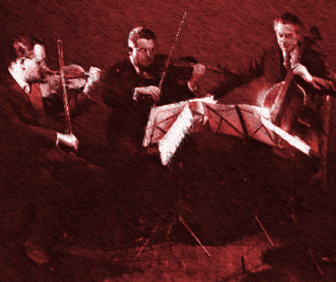vintage string trio in concert