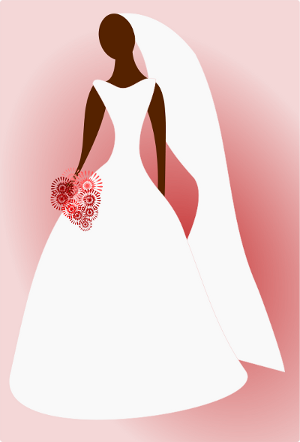 red bride drawing